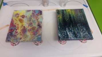 Resin Pour on Acrylic
